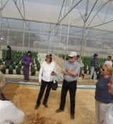 De kas staat in Heho, in de oostelijke gelegen Shan State van Myanmar. Tuinders uit de regio krijgen op deze locatie training van Nederlandse tuinbouwexperts.