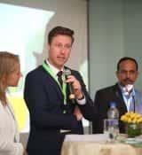 Rens Knieriem of Rijk Zwaan speaking on HortiTechIndia Seminar On Greenhouse Technology2