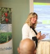 Renate Schouw Van Der Hoeven Of TwinsYeald speaking on HortiTechIndia seminar on Greenhouse Technology