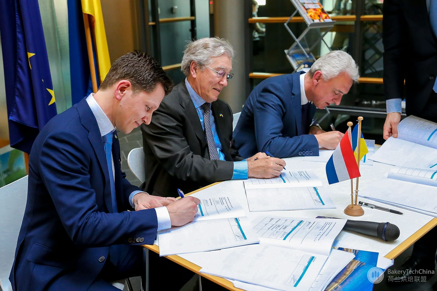 Signing Of The WaterwayTechHolland Contract At The Dutch Embassy In Kiev In Presence Of State Secretary, Mr. Andriy Galuschak Of The Ministry Of Infrastructure Of Ukraine And Ambassador Mr. Ed Hoeks