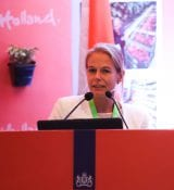 Davinia Lamme At Agriculture Seminar At Trade Mission To India 2018