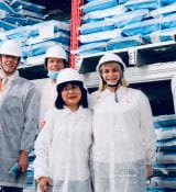 ShrimpTechVietnam with Marjolijn Sonnema at Skretting shrimp feed plant in Long An, Vietnam.